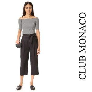 Club Monaco Black High Rise Relaxed Cropped Pant 2